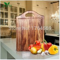 acacia cutting boards - Natural Antibacterial Acacia wood Wooden cutting board chopping block with handle CM