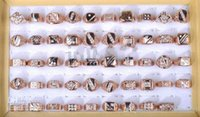 Cheap Wholesale - Rose Gold P CZ Rings 10pcs Fashion Finger Rings Jewelry Rings Costume Jewellery Rings Gift