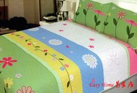 Wholesale Colourful Summer Daisy Patchwork Bedspread pc Set GIRL Twin Size Bedding Set