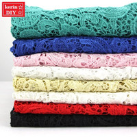soluble fabric - clothing fabric three dimensional embroidery hollow out Heavy water soluble lace fabric m order