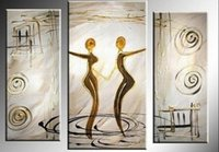 art space hands - hand painted wall art Quietly elegant space decoration abstract Landscape oil painting on canvas set mixorde