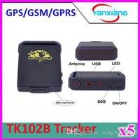 Cheap 5pcs TK102B GPRS GPS Tracker TK102 B Full Accessories Mini Car Vehicle Tracker Mini Global 4 bands ZY-DH-05