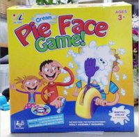 Wholesale Korea Running Man Pie Face Game Cream On Her Face Hit The Send Machine Paternity Toy Rocket Catapult Game Consoles via FedEx