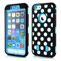 For Apple iPhone TPU  Hot sale Cell Phone Case Holster For Iphone 6 Super Robot Combo Upper and lower lid plus silicone