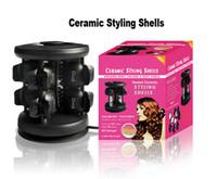 Wholesale Brand Solid Ceramic Tourmaline Styling Shells Magic Hair Curler pro Salon Equipment Salon ceramic styling shells V V DHL free