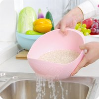 Wholesale Super practical Creative fashion wash rice sieve bright kitchen plastic drain vegatable basket cm or cm