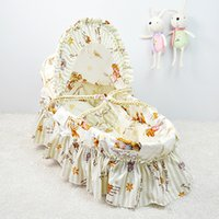Wholesale Retail Portable Baby Bed Crib Little Newborn Bassinet CM for Trip Cotton Cloth Travel Sleeping Basket Colors