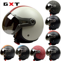 air force helmets - GXT motorcycle helmet electric bicycle helmet half face helmet Air Force Vintage G Harley style helmets made of ABS SIZE L XL