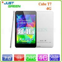cube - Cube T7 Octa Core Tablet PC MT8752 Bit GHz Android Phablet inch x1200 JDI Retina Screen GB GB MP GPS G FDD TDD LTE