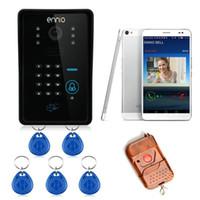 Wholesale ENNIO WiFi Remote Video Camera Door Phone Rainproof Doorbell Code ID Acesss control