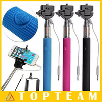 Wholesale Selfie Stick Monopod Cell Phone Shaft Phone s Camera Phone Stand Holder Shaft Remote Self timer For android ios iphone samsung sony htc
