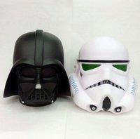 Wholesale Cartoon Star Wars Iron Man Helmet Piggy Bank Star Wars Jedi Knight Darth Vader Clone Stormtrooper Action Figure Toy Christmas Gifts m