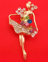 ballerina brooch - Crystal Russian BALLET Dancer Dance BALLERINA Pin Brooch