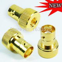 best sma - New Arrival Gold SMA to BNC Coax Straight Antenna Adapter Connector for Yaesu Vertex Icom for Kenwood Radio best quality price