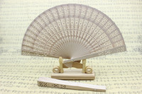 wedding umbrella - New women s imitation sandalwood folding fans Fancy bridal wedding fans wedding favors and gifts inches beige color drop shipping hot sale