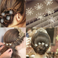 beauty clip pin - 40pcs Woman Crystal Wedding Bridal Hair Pins Prom Party Clips Bridesmaid Beauty Accessories Jewelry Hair Jewelry Free JH03028