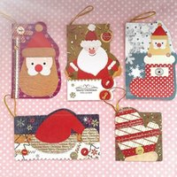 Wholesale High Quality Christmas Greeting Cards Wish Cards Messages Cards With Strings Christmas Trees Ornaments Decoration x6cm x5cm x4 cm