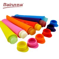 Wholesale 2015 summer DIY juice milk ice cream sticks silicone mold rainbow color choice set cool gift for children