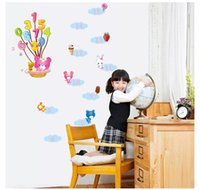 bear chat - Creative number Lovely bear Height Measure Wall Sticker For Kids Room growth chat Wall Art Mural wall stickers Decals ZY7116
