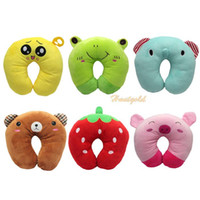 Wholesale Pc Cartoon Cute U Shape Neck Pillow Car Flight Travel Soft Nursing Cushion Neck Headrest