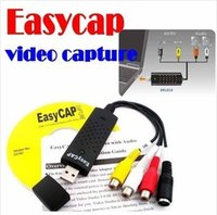 Wholesale BY DHL OR EMS pieces High Quality IC Easycap USB Video TV DVD VHS Capture Adapter For Win7 XP