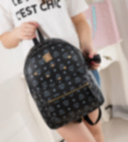 backpacks offers - HOT Women backpack Special Offer PU Leather bags rivets backpack schoolbag