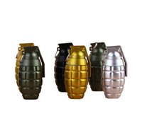 Wholesale 12 x Hand Grenade Ball Point Pen Creative Stationery Novelty Bomb Writing Pen School Gift Mixed Colors SS15