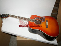 Wholesale New Arrival Lemon Burst Acoustic Electric Guitar High Quality Cheap