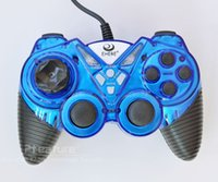 Wholesale Ptatoms PC Gamepad USB Wired Controller PS2 PC Gaming Controller USB Port Keys For PC Games Blue Color High Quality EJ05