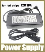adaptador de corriente adaptador de enchufe adaptador de CA / CC de potencia de conmutación cargador fuente de alimentación de 12V 10A para la cámara de circuito cerrado de televisión llevó tiras de luz DY007