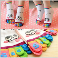 Wholesale ToeSox Pair Ankle Length Funny Feet Women s cartoon Toe Socks