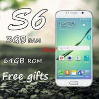 Wholesale s6 cell phone HDC S6 G920F MTK6582 Quad Core Android inch s6 HD screen GB RAM real GB GB GB ROM G WCDMA GPS show octa core