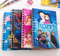 Wholesale Frozen Spider Man Notebooks Snow White Cartoon Kids Coloring paper with Stickers Drawing Notebook Children Gift Frozen Paper Stationery Sets
