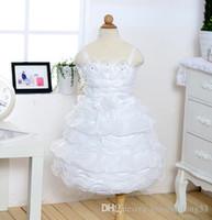 beautiful photos cute babies - Flower Girls Pageant White princess dress kids flower cute formal dress beautiful wedding party Ball Gown dress children baby girls