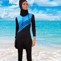 arab women wear - 10pcs up New Maios Plus Size Muslim Swimwear Women Islamic Swimsuit Islamic Swim Wear Adult Arab Swim Wear Breathable Beachwear
