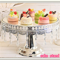 Cheap Free Shipping Elegant Silver Metal Cake Stand Cake Pan Pallet Fruit Plate Dessert Stand Cake Tray Cake Tools for Wedding Decor
