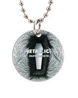 animal coffins - famous great metal band Metallica death coffin Customized Colorful Design round Dog Tag Necklace Aluminum Tag for Animal Pets Tag