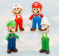Wholesale Super Mario Action Figures Collection - 12cm mario and luigi action figures PVC mario bros luigi dolls Figure Toys Collection Toys for Children and Kids Birthday Gifts in stock