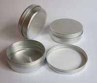 Wholesale sliver cosmetic cream jar g ml aluminum tin container with screw lid