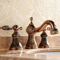 antique marbles - Fashion antique marble gold hot and cold wash basin rose gold faucet luxury faucet Many styles to choose M