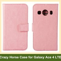 ace patterns - Fashion Crazy Horse Pattern PU Leather Wallet Flip Cover Case for Samsung Galaxy Ace LTE SM G357FZ with Card Slot Holder