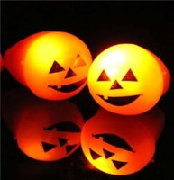 Wholesale Big discount Halloween Led Flash Ring Finger Lights Pumpkin Shape Ghost Skull Face Party Bar Gift By DHL
