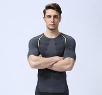 nueva medias de compresión llegada capa de base que ejecuta la aptitud Ejercicio camisa del fútbol ciclismo camisa de manga corta envío libre