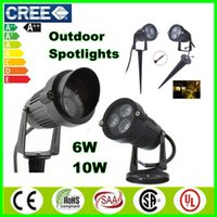 Wholesale Cree LED Spotlight Outdoor Floodlights Garden Lighting Flood Lights white red green blue yellow landscape Lamps AC85 V V