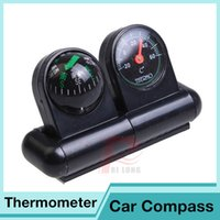 Wholesale 2 in Car Compass Thermometer With Multifunction Auto Car Truck Boat Navigation Guide For Camping Travel FYHM073