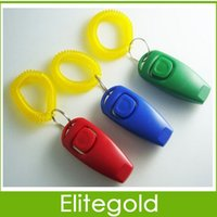 dog clicker - Dog Pet Click Clicker Whistle With Wrist Strap PET Whistle Combination Trainer Repeller Aid