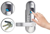Wholesale 10pcs up Weatherproof Digi Digital electronic Keypad Door Fingerprint Lock Keylock satin chrome Left hand