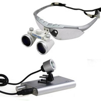 Orthodontics tool Manual No 3.5x 420 Silver Dental Surgical Binocular Loupes + LED Dental Head Light lamp