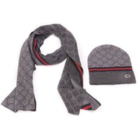 Wholesale Two piece hat scarf bags of fashionable new hat scarf warm suit for men and women