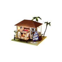 beach style furniture - 3D Miniature Dollhouse Furniture DIY House Toys for Children s Present New Style Wooden Doll Houses The Beach House